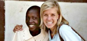 Project Zawadi supporter Jenna and sponsored student Yunia