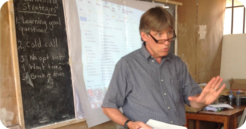 Ian Keith teaching in Nyamuswa, Tanzania in the summer of 2015