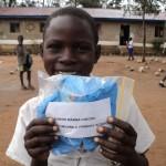 Bunuri Wanna with her sponsor gift