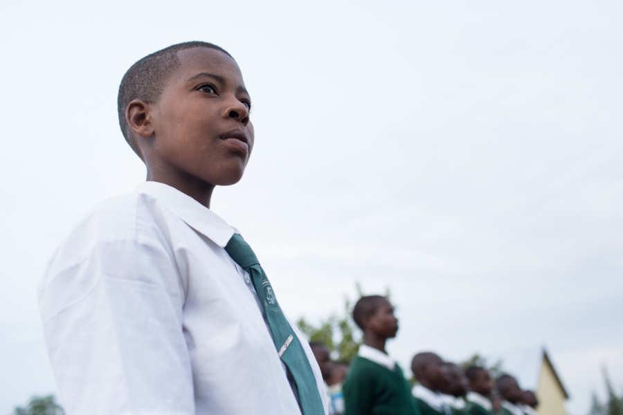 tanzania older student outdoors